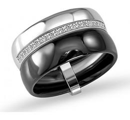 Серебряное кольцо SilverBreeze с , керамикой (1577141) 18 размер