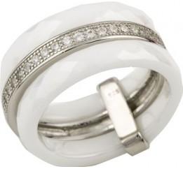Серебряное кольцо SilverBreeze с , керамикой (0481739) 18 размер