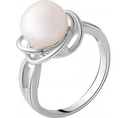 Серебряное кольцо SilverBreeze с натуральным жемчугом (2044017) 18 размер
