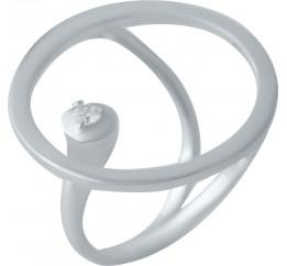 Серебряное кольцо SilverBreeze с фианитами (2031703) 17.5 размер