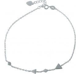 Серебряный браслет на ногу SilverBreeze без камней (1993958) 2326 размер
