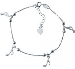 Серебряный браслет на ногу SilverBreeze без камней (1927557) 2326 размер